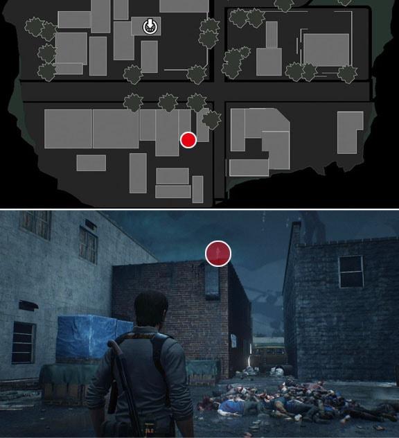 商業地区の建物の屋根のところで入手できるロッカーの鍵