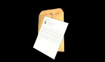 警察署長からの手紙