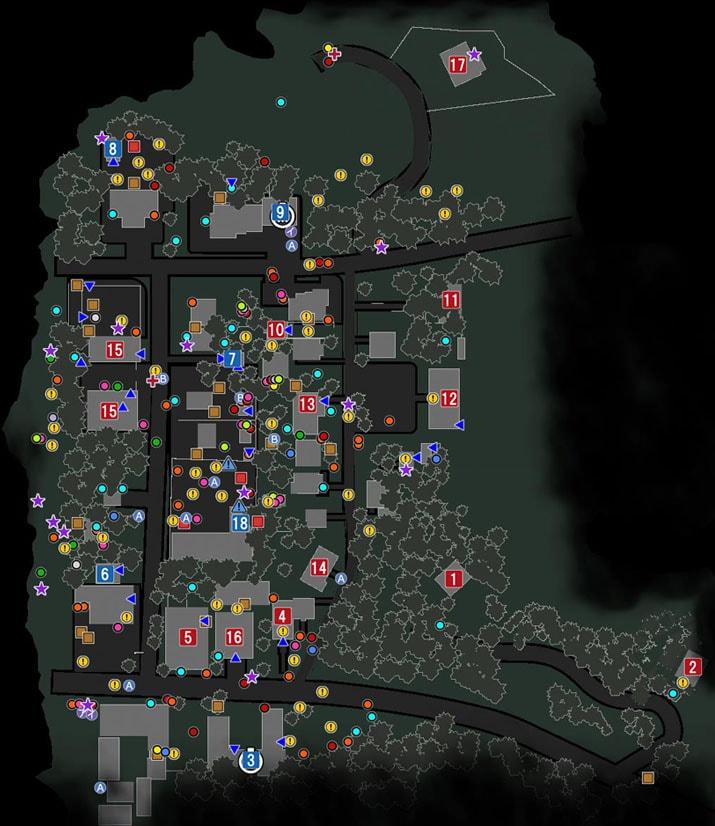 住宅街のマップ
