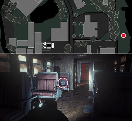 ショットガンの弾用ポーチの入手場所のマップ