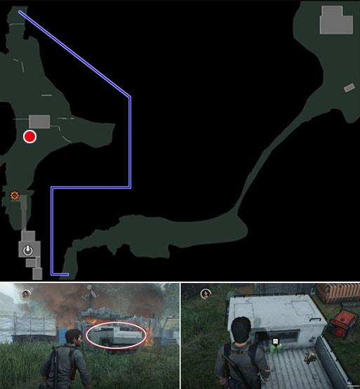 スナイパーライフルの弾用ポーチの入手場所のマップ