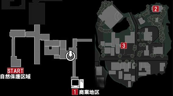 サイドミッション『蜘蛛の糸』の発生場所のマップ