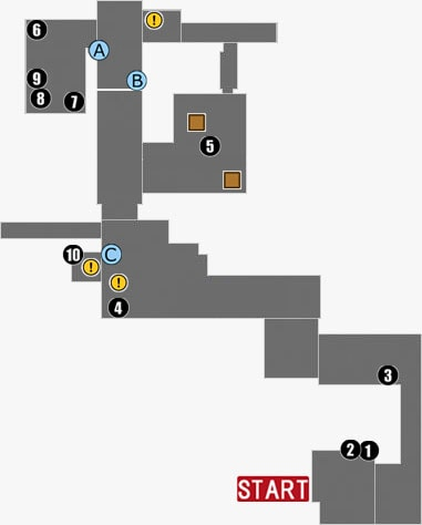 The Marrow:Armoryのマップ
