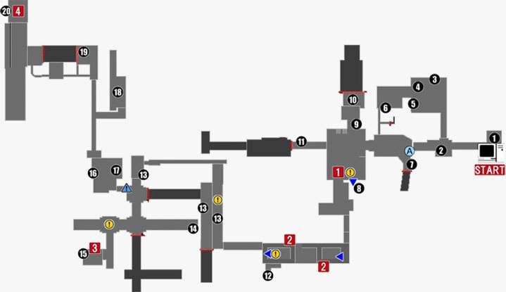脊髄『The Marrow:Operations』の攻略マップ