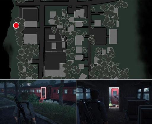 Train To Nowhereの残留思念の場所のマップ