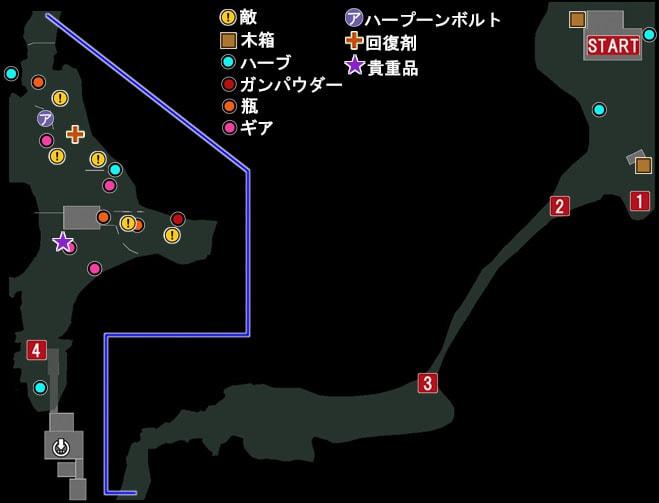 自然保護区域のマップ