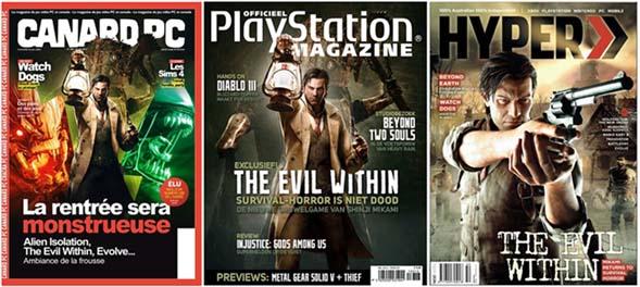 海外ゲーム雑誌のThe Evil Withinの表紙
