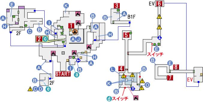 CHAPTER 4のマップ