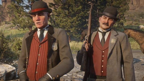 ピンカートン探偵社のミルトン捜査官とロス捜査官