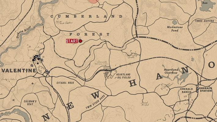 デボラから招待された場所のマップ