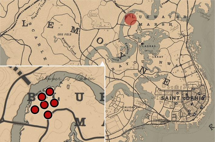 アグネスの幽霊が出現する場所のマップ