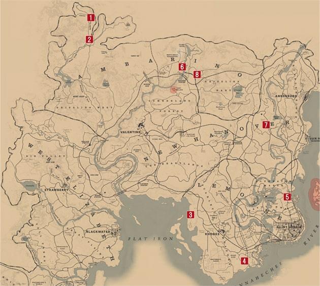 墓がある場所の全箇所マップ