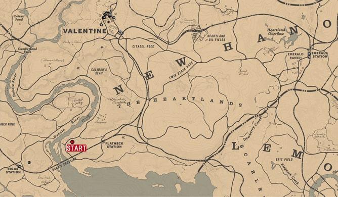 煌めくもの全ての発生場所のマップ