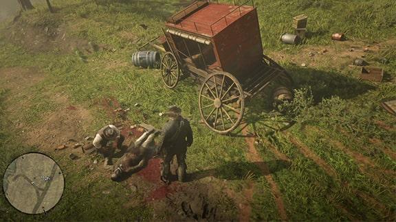 ルモワンレイダーズに襲われた馬車