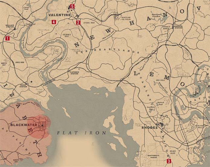 アメリカンドリームの発生場所のマップ