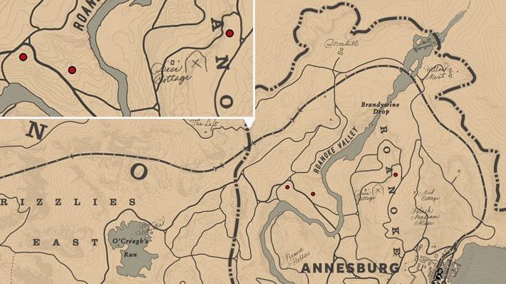 アメリカニンジンの入手場所のマップ