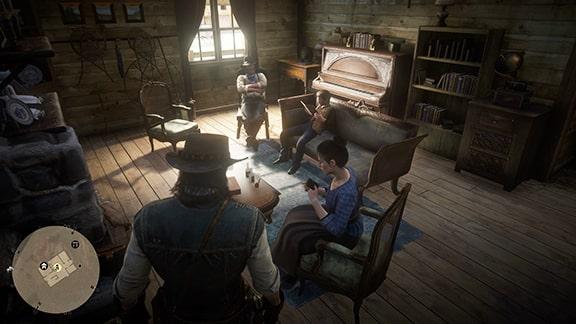 ミッションを開始できるジョンの家にいるアビゲイルの画像