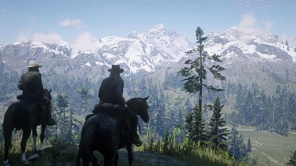 見晴らしのいい丘の風景