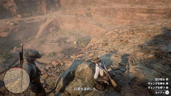 崖上でセイディの計画の選択肢選びシーン
