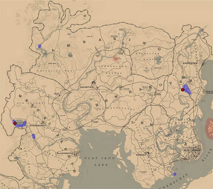 アメリカビーバーの居場所マップ