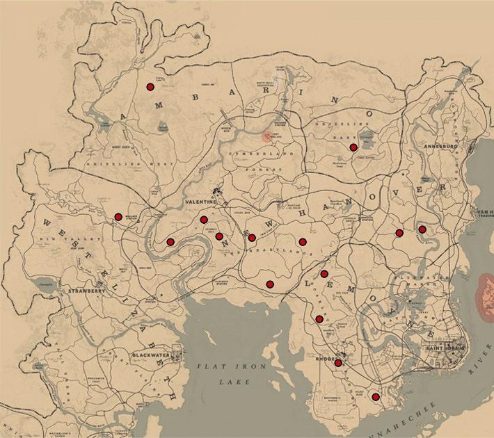 オグロジャックウサギの居場所マップ