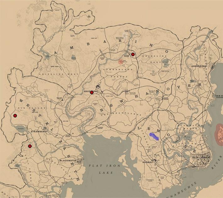 シマスカンクの居場所マップ