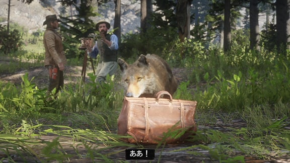 コヨーテにメイソンのバッグを盗まれるカットシーン