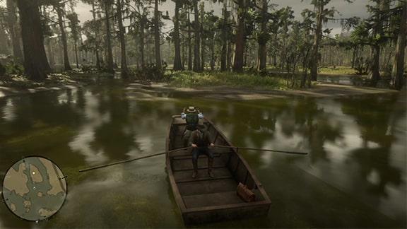 手漕ぎボートの角度を示す画像