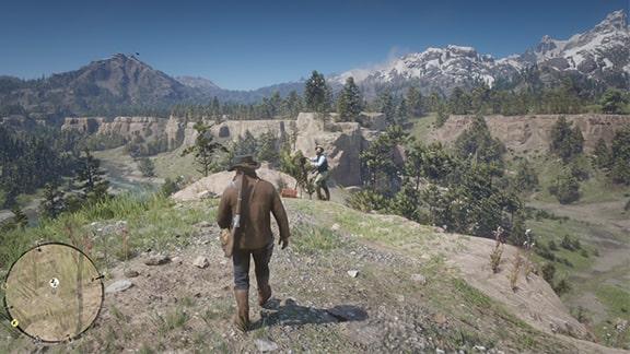 ハートランドの丘で撮影しているメイソンの画像