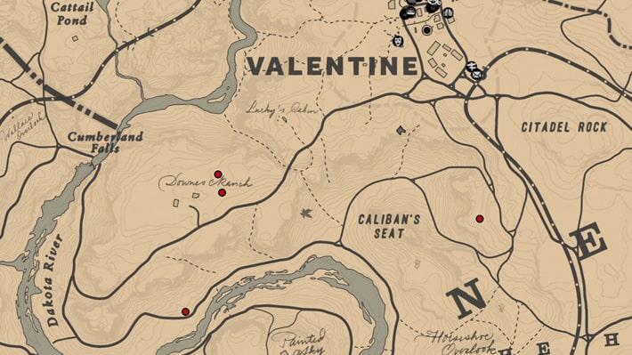 ニセイロガワリの入手場所のマップ