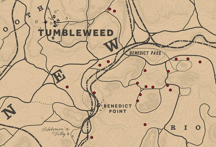 ブラックカラントの入手場所のマップ
