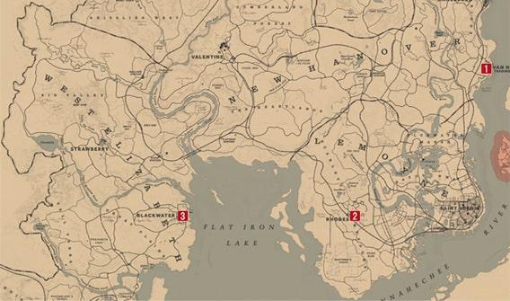 ブラックジャックをプレイできる場所のマップ