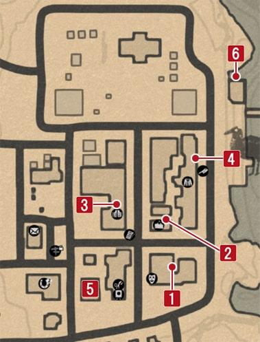ブラックウォーターにある謎めいたメモの場所のマップ