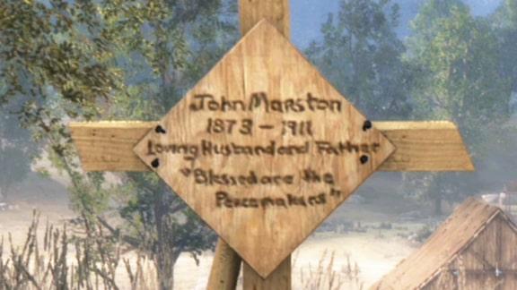 レッドデッドリデンプションのジョン・マーストンの墓の画像