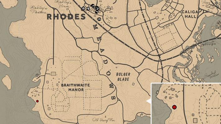 グレイ家の屋敷裏の場所マップ