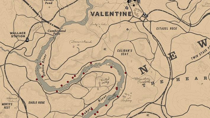 ゴボウの入手場所のマップ