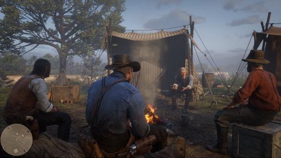 レッドデッドリデンプション2のキャンプ画像