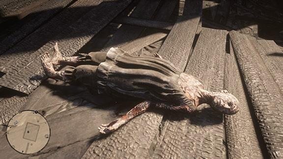 キャサリン・ブレスウェイトの遺体