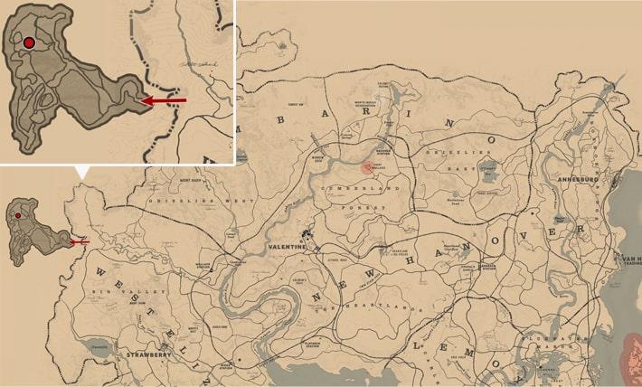 洞窟の世捨て人のマップ