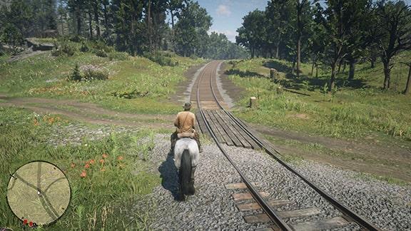 鉄道路線の完成画像
