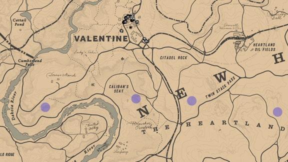 馬術師1のウサギのいる居場所マップ
