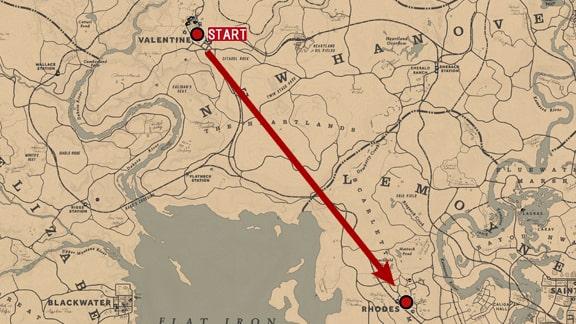 馬術師3のバレンタインからローズまでの走行場所マップ