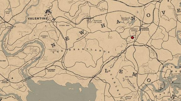 馬術師5のエメラルド牧場の居場所マップ