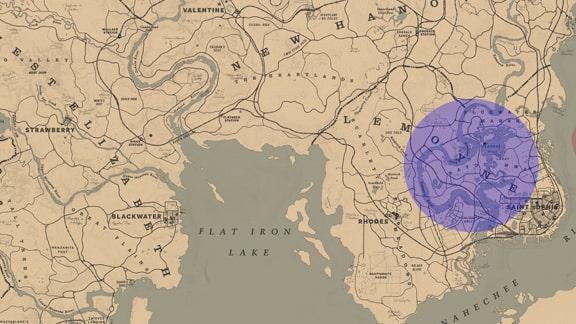 馬術師8のルモワン州のエリアマップ