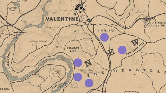 狩猟家1の鹿の居場所のマップ
