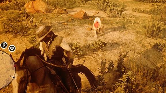 狩猟家6のクーガーとの戦い