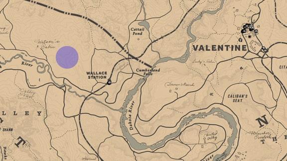 武器専門家10のハイイログマがいる場所のマップ