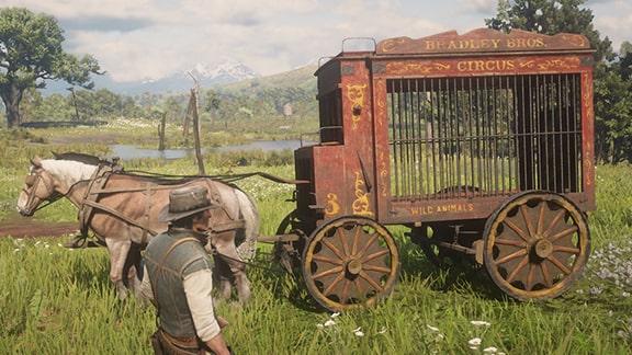 サーカス馬車の画像