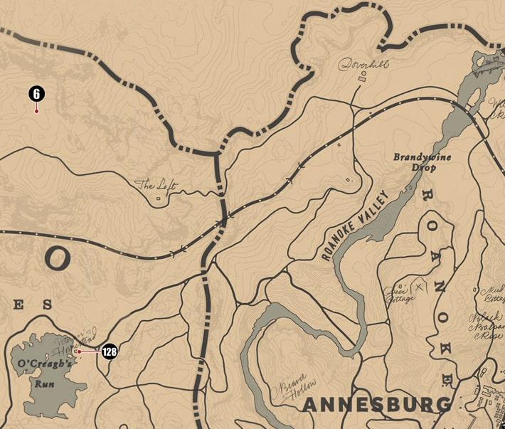 アンバリーノ州にあるシガレットカードのマップ