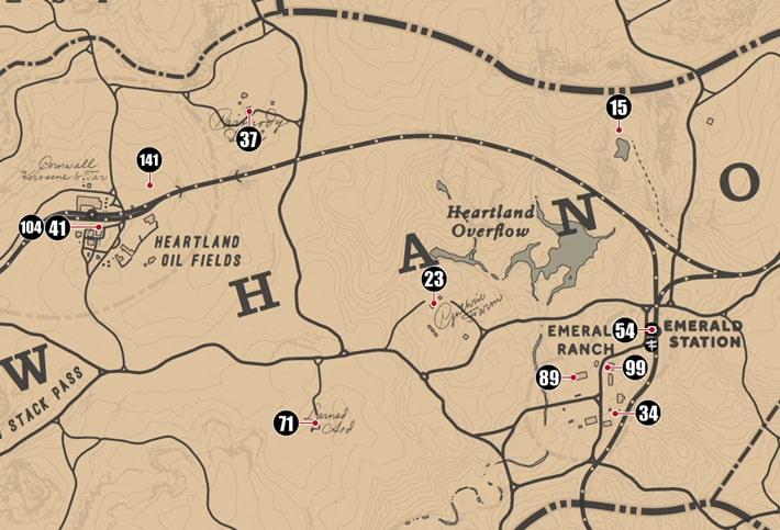 ニューハノーバー州にあるシガレットカードのマップ